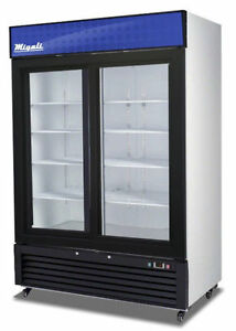 Migali C 49rs Commercial Double Slide Glass Door Merchandiser Refrigerator