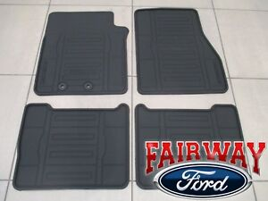 15 Thru 17 Expedition Oem Genuine Ford Black All Weather Floor Mat Set 4 Pc New