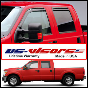 Egr 2009 16 Ford Super Duty Crew Cab Truck Window Vent Visors In Channel 4 Piece
