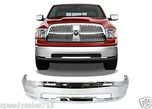 Replacement Chrome Front Bumper For 2009 2012 Dodge Ram 1500 New Free Shipping