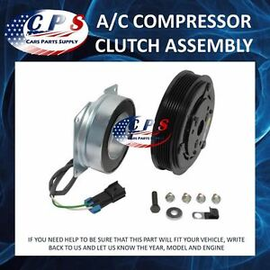 A C Ac Compressor Clutch Assembly Fits York Models 2 Wire 6 Grooves 12 Volt