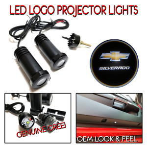 2pc Led Logo Projectors Ghost Shadow Lights For Chevrolet Silverado