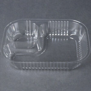 King Two Compartment Plastic Nacho Tray 500 case Fast Shipping