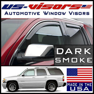 Us visors 2000 2006 Chevy Tahoe Gmc Yukon Window Vent Visors In channel 4 pieces