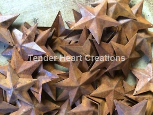 Lot 100 Rusty Barn Stars 2 25 In 2 1 4 Primitive Country Rust Craft Ships Free
