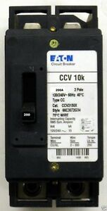 Ccv2200x Eaton Circuit Breaker Type Cc 2 Pole 200 Amp 120 240v new In Box