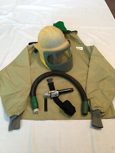 Bullard Blasting Helmet Respirator Cape And Cool Climate Control Tube