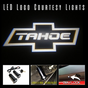 Lumenz Led Courtesy Logo Lights Ghost Shadow For White Chevrolet Tahoe 100605