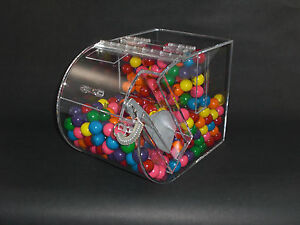 Bulk Food Candy Cereal Nuts Spices Acrylic Bin 7 Wide With False Front