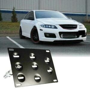 Tow Hook License Plate Bumper Mount Bracket Relocator Kit For Mazdaspeed 6