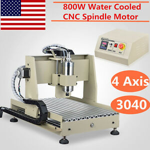 Cnc Router 4 Axis Engraver 3040t Milling Drill Engraving Machine Ballscrew Mach3