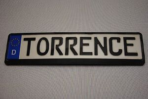 Original German European Car Licence Plate And Frame Torrence