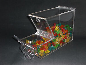 Bulk Foods Candy Spices Cereal Nuts Yogurt Topping Bin 3 16 Clear Acrylic