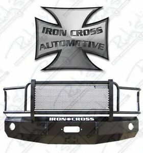 Iron Cross Hd Grille Guard Front Bumper 2007 2010 Chevy Silverado 2500hd 3500hd