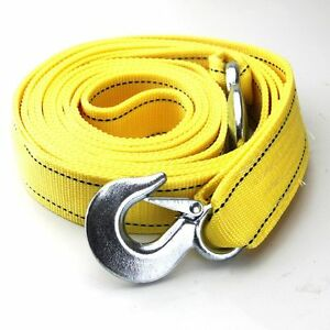 Heavy Duty 6 Tons Car Tow Rope Cable Towing Strap With Hooks For Emergency