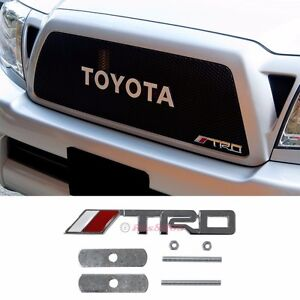 3d Metal Chrome Trd Front Grill Badge Emblem Decal Sticker For Toyota Camr