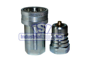 1 Pk Of 1 Iso 7241 1 A Hydraulic Quick Disconnect Coupler Set
