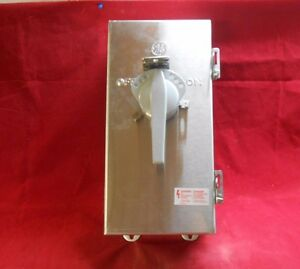 Ge Se100cs 600vac 4x Stainless 30amp Circuit Breaker Disconnect New In Box