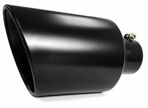 One Black Diesel Stainless Steel Bolt On Exhaust Tip 4 Inlet 8 Outlet 15 Long