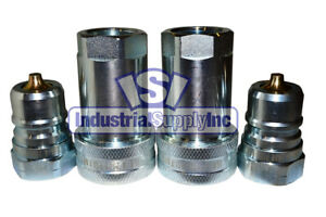 2 Pk Of 1 Iso 7241 1 A Hydraulic Quick Disconnect Couplers