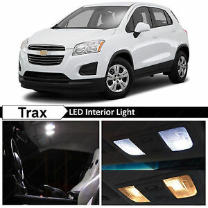 13x White Interior Led Lights Package Kit For 2013 2017 Chevy Trax