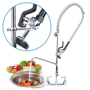 Commercial Kitchen Restaurant Pre rinse Faucet Swivel W 12 Add on Faucet
