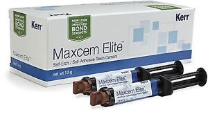 2 X Maxcem Elite Dental Resin Cement New Pack By Kerr Free Shipping