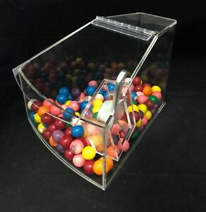 Bulk Foods Candy Nuts Cereal Spice Bin Large Radius Acrylic Bin With Scoop