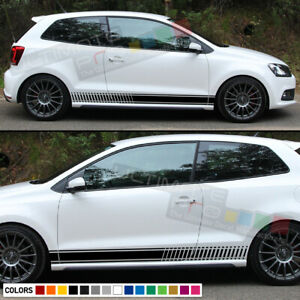Stickers Decal For Vw Volkswagen Polo Stripe Body Kit Door Handle Guard Sill Gti