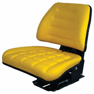 Yellow Adjustable Suspension Seat John Deere Farm Utility Compact Tractors gh