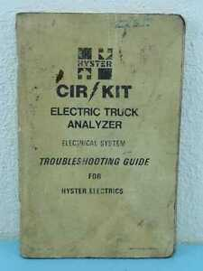 Oem Hyster Cir Kit Electric Forklift Analyzer Troubleshooting Guide Manual
