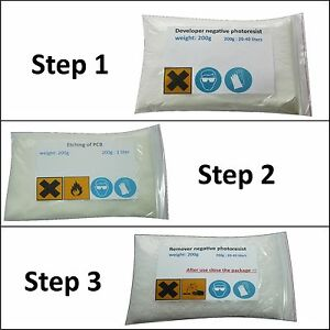 Developer And Remover For Negative Photo Resist Dry Film Etchant For Pcb Fr4
