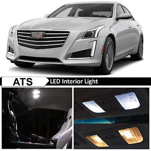 18x White Interior Led Lights Package Kit For 2013 2015 Cadillac Ats