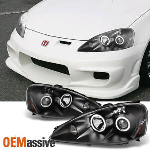 Fit 2005 2006 Acura Rsx Integra Dc5 Black Ccfl Halo Projector Led Headlights