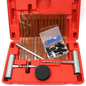 50pc Tire Repair Kit Diy Flat Tire Repair Truck Car Motorcycle Home Plug Patch