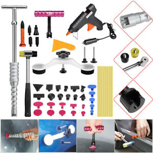 42 Paintless Hail Removal Dent Puller Lifter Pdr Tools Glue Gun Body Repair Tap