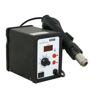 Us Free Shipping 110v 858d Hot Air Gun Smd Rework Station Iron Soldering Solder