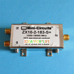 Mini circuits Zx10 2 183 s 1 5g 18ghz 1500 18000mhz Sma Power Divider Splitter