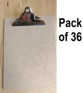 36 Ea A W 4004 9 X 12 Letter Sized Masonite Clipboards W Metal Spring Clip