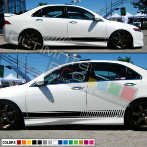 Decal Sticker Stripe Kit For Honda Accord Spoiler Led Headlight Chrome Lip Body