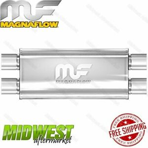 Magnaflow Stainless Steel 2 5 Dual In 2 5 Dual Out Straight Through Muffler
