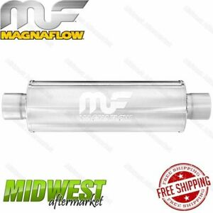 Magnaflow Stainless 2 5 Center In 2 5 Dual Out Center Straight Through Muffler