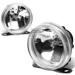 Universal Clear Lens 3 5 Round Fog Light Lamp Adjustable Mounting Kit W Bulbs