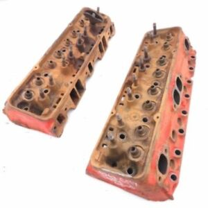 Chevy Small Block 327 350 Bare 3947040 Cylinder Head Pair 1 94 1 50