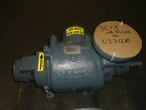 Nash Vacuum Pump Liquid Ring Vacuum Pump Sc 3 100 Rebuilt With Warranty