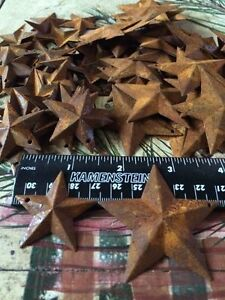 Lot 200 Rusty Stars 100 Each 1 5 2 25 Country Craft Rusted Crafts Rust