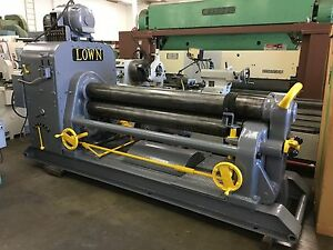 Lown Initial Pinch Plate Roll Model G 874 3 8 X 6 Ft