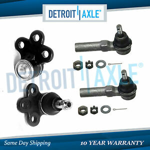 New 2 Front Lower Ball Joints And 2 Outer Tie Rod End Links For Buick Chevy