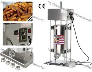 Heavy Duty Automatic Electric 15l Churrera Churros Machine Maker W 5 Nozzles