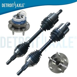 2 Front Cv Axle Shaft 2 New Wheel Hub Bearing Abs Supercharger And Ss Models